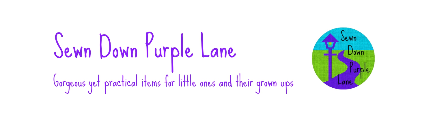 Sewn Down Purple Lane